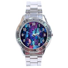Cubes Vector Art Background Stainless Steel Analogue Watch by Simbadda