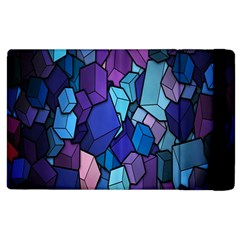 Cubes Vector Art Background Apple Ipad 2 Flip Case by Simbadda
