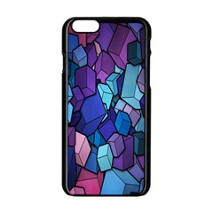 Cubes Vector Art Background Apple Iphone 6/6s Black Enamel Case by Simbadda