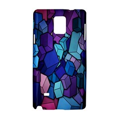 Cubes Vector Art Background Samsung Galaxy Note 4 Hardshell Case by Simbadda