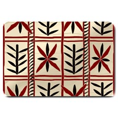 Abstract A Colorful Modern Illustration Pattern Large Doormat  by Simbadda