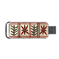 Abstract A Colorful Modern Illustration Pattern Portable Usb Flash (one Side)