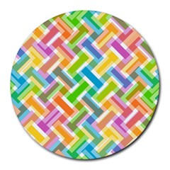 Abstract Pattern Colorful Wallpaper Background Round Mousepads by Simbadda