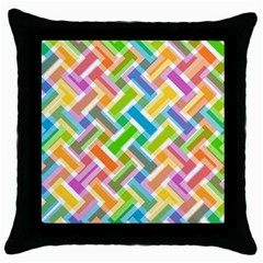Abstract Pattern Colorful Wallpaper Background Throw Pillow Case (black) by Simbadda