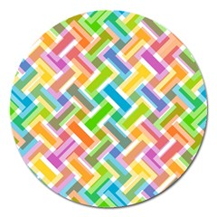 Abstract Pattern Colorful Wallpaper Background Magnet 5  (round) by Simbadda