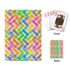 Abstract Pattern Colorful Wallpaper Background Playing Card by Simbadda