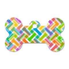 Abstract Pattern Colorful Wallpaper Background Dog Tag Bone (two Sides) by Simbadda