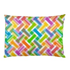 Abstract Pattern Colorful Wallpaper Background Pillow Case (two Sides) by Simbadda