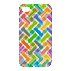 Abstract Pattern Colorful Wallpaper Background Apple Iphone 4/4s Premium Hardshell Case by Simbadda