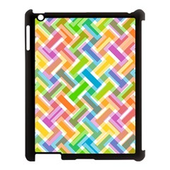 Abstract Pattern Colorful Wallpaper Background Apple Ipad 3/4 Case (black) by Simbadda