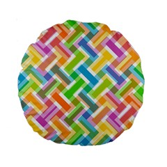 Abstract Pattern Colorful Wallpaper Background Standard 15  Premium Round Cushions by Simbadda