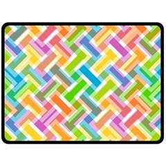 Abstract Pattern Colorful Wallpaper Background Double Sided Fleece Blanket (large)  by Simbadda