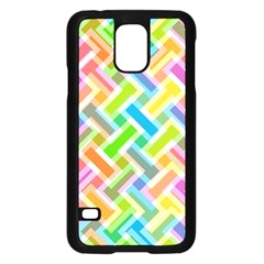 Abstract Pattern Colorful Wallpaper Background Samsung Galaxy S5 Case (black)
