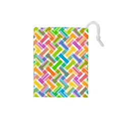 Abstract Pattern Colorful Wallpaper Background Drawstring Pouches (small)  by Simbadda