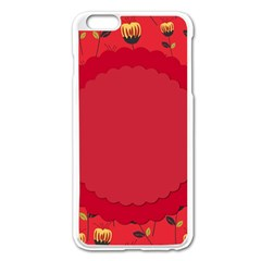 Floral Roses Pattern Background Seamless Apple Iphone 6 Plus/6s Plus Enamel White Case by Simbadda