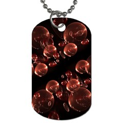 Fractal Chocolate Balls On Black Background Dog Tag (two Sides) by Simbadda