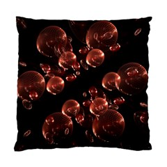 Fractal Chocolate Balls On Black Background Standard Cushion Case (one Side) by Simbadda