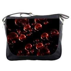 Fractal Chocolate Balls On Black Background Messenger Bags by Simbadda
