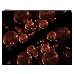 Fractal Chocolate Balls On Black Background Cosmetic Bag (xxxl)  by Simbadda