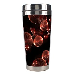 Fractal Chocolate Balls On Black Background Stainless Steel Travel Tumblers by Simbadda