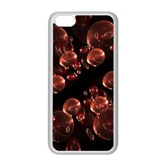 Fractal Chocolate Balls On Black Background Apple Iphone 5c Seamless Case (white) by Simbadda