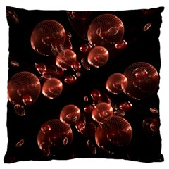 Fractal Chocolate Balls On Black Background Standard Flano Cushion Case (one Side) by Simbadda