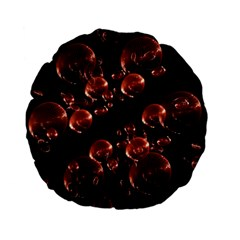 Fractal Chocolate Balls On Black Background Standard 15  Premium Flano Round Cushions by Simbadda