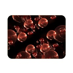 Fractal Chocolate Balls On Black Background Double Sided Flano Blanket (mini)