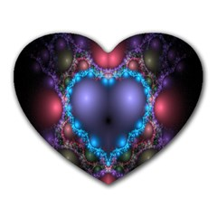 Blue Heart Fractal Image With Help From A Script Heart Mousepads by Simbadda