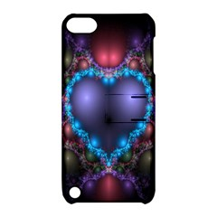 Blue Heart Fractal Image With Help From A Script Apple Ipod Touch 5 Hardshell Case With Stand by Simbadda