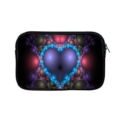 Blue Heart Fractal Image With Help From A Script Apple Macbook Pro 13  Zipper Case