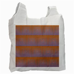 Brick Wall Squared Concentric Squares Recycle Bag (one Side) by Simbadda