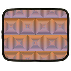 Brick Wall Squared Concentric Squares Netbook Case (xl)