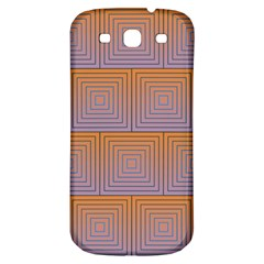Brick Wall Squared Concentric Squares Samsung Galaxy S3 S Iii Classic Hardshell Back Case by Simbadda
