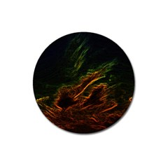 Abstract Glowing Edges Magnet 3  (round) by Simbadda