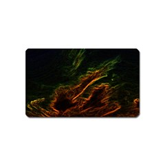 Abstract Glowing Edges Magnet (name Card) by Simbadda
