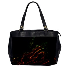 Abstract Glowing Edges Office Handbags