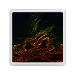 Abstract Glowing Edges Memory Card Reader (square)