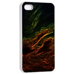 Abstract Glowing Edges Apple Iphone 4/4s Seamless Case (white) by Simbadda
