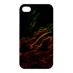 Abstract Glowing Edges Apple Iphone 4/4s Premium Hardshell Case by Simbadda