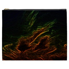 Abstract Glowing Edges Cosmetic Bag (xxxl)  by Simbadda
