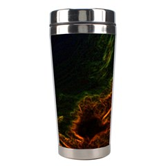 Abstract Glowing Edges Stainless Steel Travel Tumblers by Simbadda