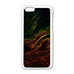 Abstract Glowing Edges Apple Iphone 6/6s White Enamel Case