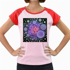 An Abstract Background Consisting Of Pastel Colored Circle Women s Cap Sleeve T Shirt
