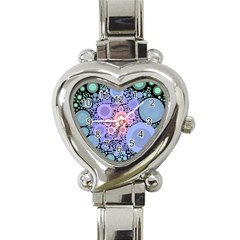 An Abstract Background Consisting Of Pastel Colored Circle Heart Italian Charm Watch by Simbadda
