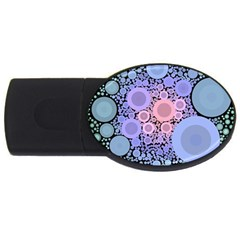 An Abstract Background Consisting Of Pastel Colored Circle Usb Flash Drive Oval (4 Gb) by Simbadda