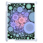 An Abstract Background Consisting Of Pastel Colored Circle Apple iPad 2 Case (White) Front