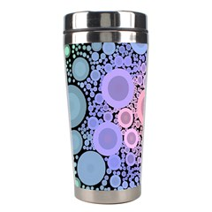 An Abstract Background Consisting Of Pastel Colored Circle Stainless Steel Travel Tumblers by Simbadda