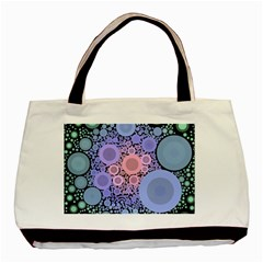 An Abstract Background Consisting Of Pastel Colored Circle Basic Tote Bag (two Sides) by Simbadda