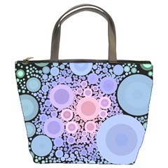 An Abstract Background Consisting Of Pastel Colored Circle Bucket Bags by Simbadda